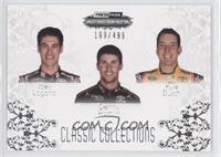 Kyle Busch, Joey Logano, Denny Hamlin #/499