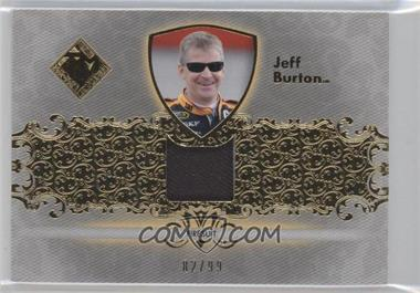 2012 Press Pass Total Memorabilia - Single Swatch - Gold #TM-JB - Jeff Burton /99