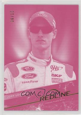 2013 Press Pass Redline - [Base] - Red #31 - Joey Logano /15