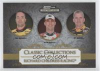 Paul Menard, Kevin Harvick, Jeff Burton /99