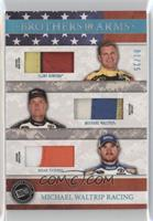 Clint Bowyer, Michael Waltrip, Brian Vickers [Noted] #/25
