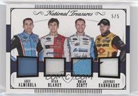Brian Scott, Jeffrey Earnhardt, Aric Almirola, Ryan Blaney /5