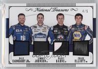 Chase Elliott, Dale Earnhardt Jr, Jimmie Johnson, Kasey Kahne /5