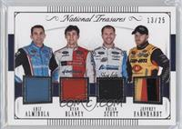 Aric Almirola, Ryan Blaney, Brian Scott, Jeffrey Earnhardt #/25