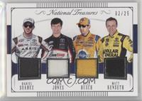 Daniel Suarez, Erik Jones, Kyle Busch, Matt Kenseth #/25