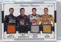 David Ragan, Martin Truex Jr., Matt DiBenedetto, Kyle Busch /25