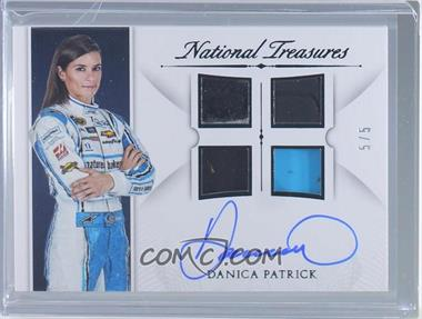 2016 Panini National Treasures - Signature Quad Materials - Black #SQM-DP - Danica Patrick /5