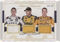 Denny Hamlin, Kyle Busch, Carl Edwards /10
