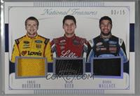 Chris Buescher, Ryan Reed, Bubba Wallace /15