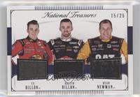 Ty Dillon, Austin Dillon, Ryan Newman /25