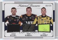 Austin Dillon, Paul Menard, Ryan Newman /25