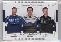 Dale Earnhardt Jr, Kasey Kahne, Jimmie Johnson /25
