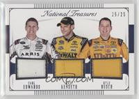 Carl Edwards, Kyle Busch, Matt Kenseth /25
