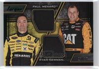 Paul Menard, Ryan Newman [Noted] #/25
