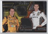 Kyle Busch, Carl Edwards [Noted] #/249