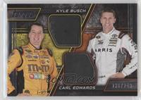 Kyle Busch, Carl Edwards #/249