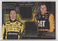 Paul Menard, Ryan Newman #/249