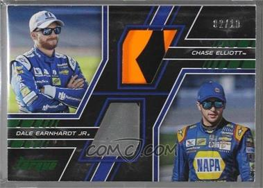 2017 Panini Torque - Pairings Materials - Green #PM-EE - Chase Elliott, Dale Earnhardt Jr /10 [Noted]