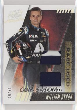 2019 Panini Prime - Race-Used Dual - Sheet Metal #RUD-WB - William Byron /50