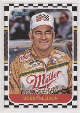 2020 Panini Donruss NASCAR - [Base] - Black Numbers #165 - Retro 1987 - Bobby Allison /12