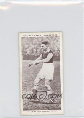 1939 Churchman's Association Footballers Series 2 - Tobacco [Base] #49 - G. Walton [Good to VG‑EX]