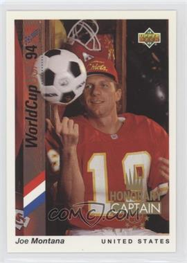 1993 Upper Deck World Cup 94 Preview English/Spanish - Honorary Captain #HC2 - Joe Montana