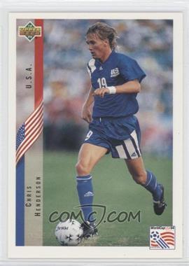 1994 Upper Deck World Cup English/Spanish - [Base] #12 - Chris Henderson