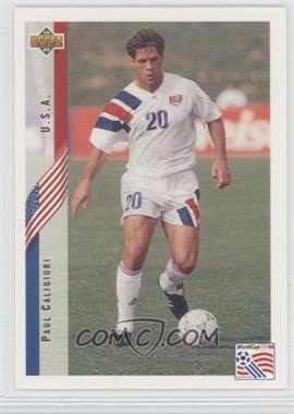 1994 Upper Deck World Cup English/Spanish - [Base] #19 - Paul Caligiuri