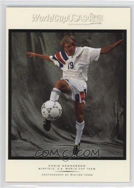 1994 Upper Deck World Cup English/Spanish - Walter Ioss Portraits #WI3 - Chris Henderson