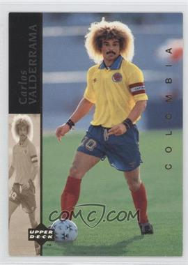 1994 Upper Deck World Cup English/Spanish - World Cup Superstars #4 - Carlos Valderrama