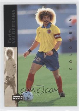 1994 Upper Deck World Cup English/Spanish - World Cup Superstars #4 - Carlos Valderrama