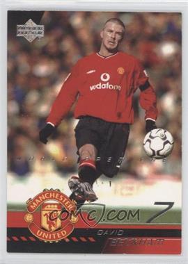 2001 Upper Deck Manchester United World Premiere - [Base] #1 - David Beckham