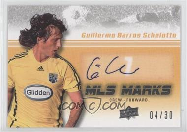 2008 Upper Deck MLS - MLS Marks #MK-5 - Guillermo Barros Schelotto /30