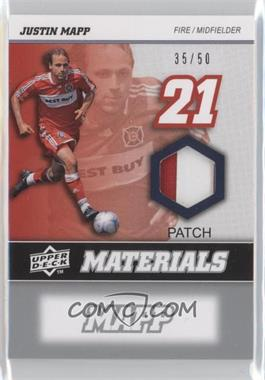 2008 Upper Deck MLS - MLS Materials - Patch #MM-14 - Justin Mapp /50