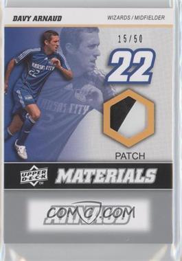 2008 Upper Deck MLS - MLS Materials - Patch #MM-6 - Davy Arnaud /50