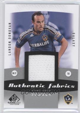 2011 SP Game Used Edition - Authentic Fabrics #AF-LD - Landon Donovan