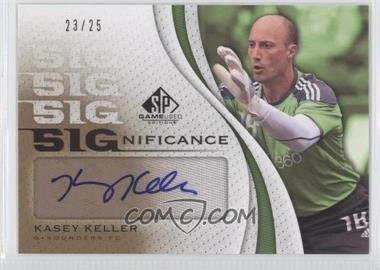 2011 SP Game Used Edition - SIGnificance #SIG-KE - Kasey Keller /25