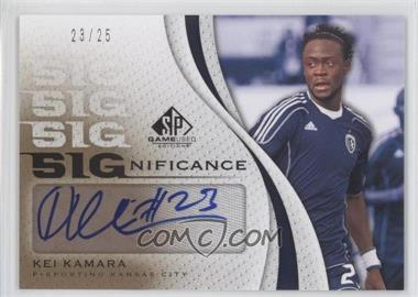 2011 SP Game Used Edition - SIGnificance #SIG-KK - Kei Kamara /25