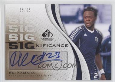 2011 SP Game Used Edition - SIGnificance #SIG-KK - Kei Kamara /25