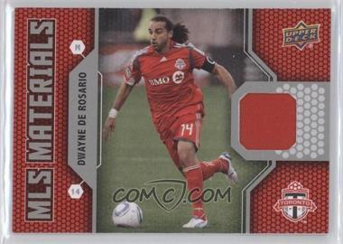 2011 Upper Deck - MLS Materials #M-DD - Dwayne De Rosario
