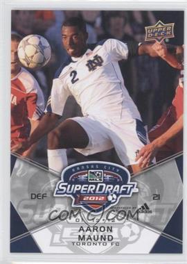 2012 Upper Deck MLS - [Base] #192 - Aaron Maund