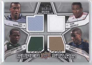 2012 Upper Deck MLS - Super Stars Quad Materials #SS-YNG - Teal Bunbury, Darlington Nagbe, Danny Mwanga, Juan Agudelo /50