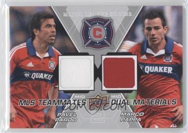 2012 Upper Deck MLS - Teammates Dual Materials #TM-CHI - Pavel Pardo, Marco Pappa