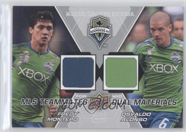 2012 Upper Deck MLS - Teammates Dual Materials #TM-SEA - Osvaldo Alonso, Fredy Montero