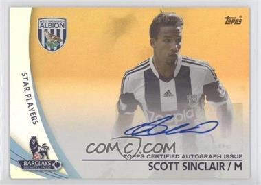 2013 Topps English Premier Gold - Autographs - Gold #SP-SS - Scott Sinclair /50