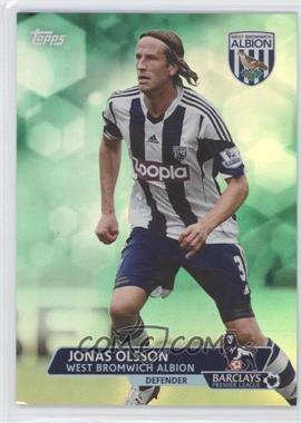 2013 Topps English Premier League - [Base] - Green #92 - Jonas Olsson /99
