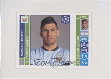 2014-15 Panini UEFA Champions League Stickers - [Base] #371 - Sergio Aguero