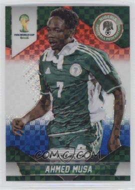 2014 Panini Prizm World Cup - [Base] - Red, White, & Blue Power Plaid Prizms #154 - Ahmed Musa
