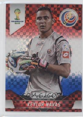 2014 Panini Prizm World Cup - [Base] - Red, White, & Blue Power Plaid Prizms #55 - Keylor Navas