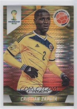 2014 Panini Prizm World Cup - [Base] - Yellow & Red Pulsar Prizms #48 - Cristian Zapata